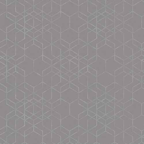Wallpaper hexagon dark grey silver gloss AS Creation 34869-2 online kaufen