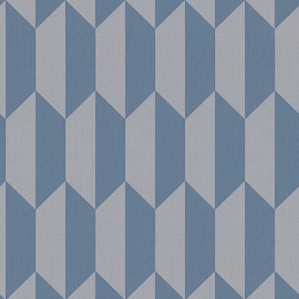 Vliestapete Grafik Graublau Grau AS Creation 34900-2