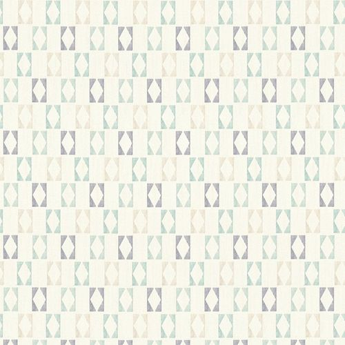 Wallpaper Aztec cream turquoise AS Creation 35118-1