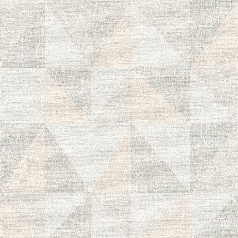 Vliestapete Grafik Dreieck Grau Apricot AS Creation 35181-2