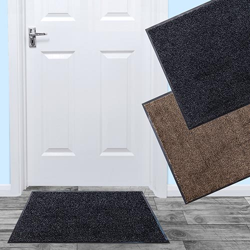 Dirt Barrier Mat CLEANI Non-Slip Door Mat Dirt Trapper Mat Microfibre