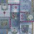 Wallpaper denim jeans style patchwork blue white P+S 05568-10 001