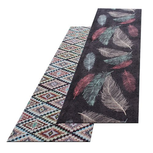 Runner Rug Carpet Runner Feather Ethno Washable Hallway Runner online kaufen