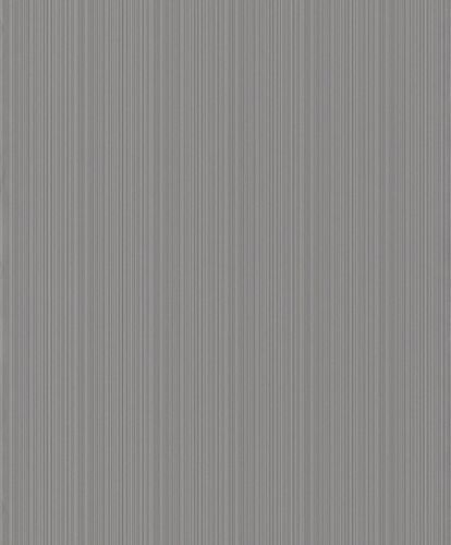 Non-woven wallpaper Rasch lines dark grey 431933