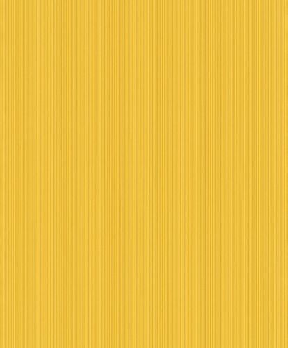 Non-woven wallpaper Rasch lines yellow 431957