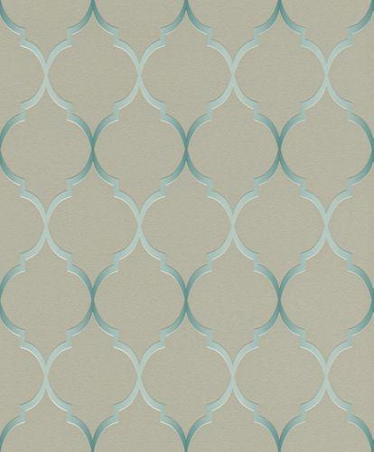 Vliestapete Rasch Ornamente taupe blau Glanz 701623 online kaufen