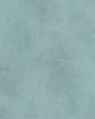 Wallpaper plaster style vintage turquoise Marburg 59312