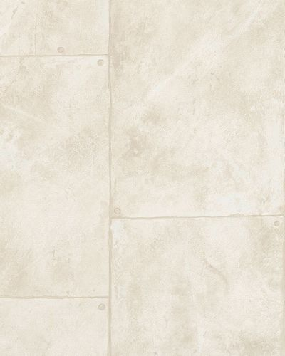 Wallpaper cement style slab cream beige gloss Marburg 59331