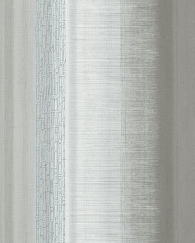 Wallpaper stripes design grey silver blue gloss Marburg 59343