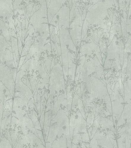 Vliestapete Rasch Putz-Optik Floral grün 802030