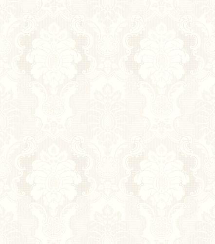 Wallpaper Rasch baroque white silver gloss 802405