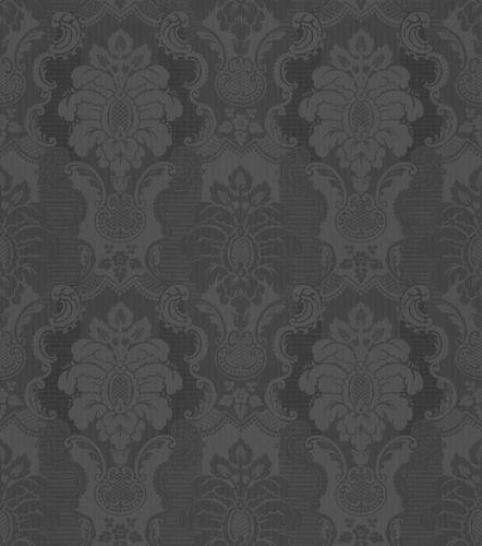 Vliestapete Rasch Barock schwarz Glanz 802450 online kaufen