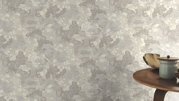 Wallpaper Rasch leaves vintage light grey beige 802535 online kaufen