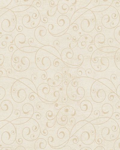 Wallpaper tendrils vintage cream beige gloss Marburg 59417