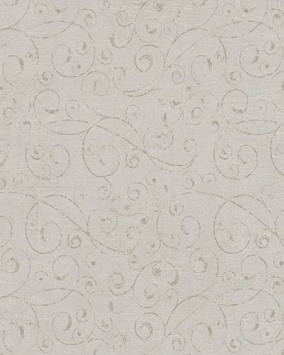 Wallpaper tendrils vintage brown grey Marburg 59418