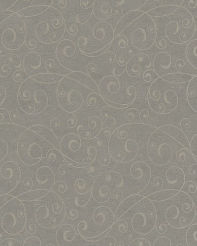 Wallpaper tendril vintage brown beige glitter Marburg 59420