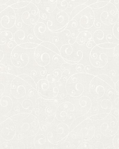 Wallpaper tendrils vintage white grey gloss Marburg 59421