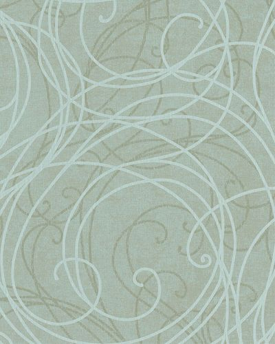 Wallpaper ornaments turqouise gold gloss Marburg 59105 online kaufen