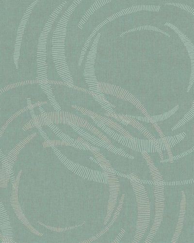 Wallpaper circles graphic turqouise gold gloss Marburg 59123 online kaufen