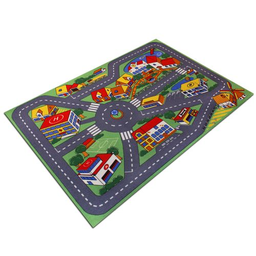 Carpet Cooz street city carpet colourful WASHABLE 95x133 cm