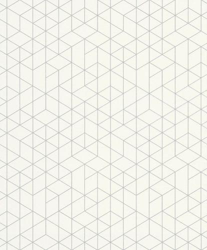Wallpaper graphic white silver gloss Erismann 6466-01 online kaufen