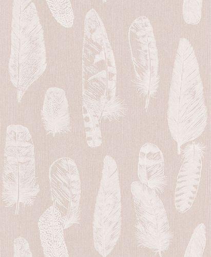 Wallpaper feathers rose white gloss Erismann 6467-05 online kaufen