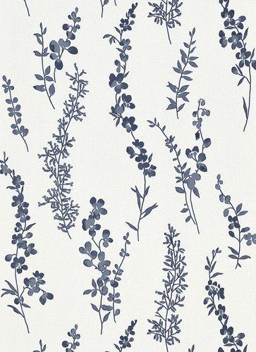 Wallpaper tendrils white blue grey gloss Erismann 6482-08 online kaufen