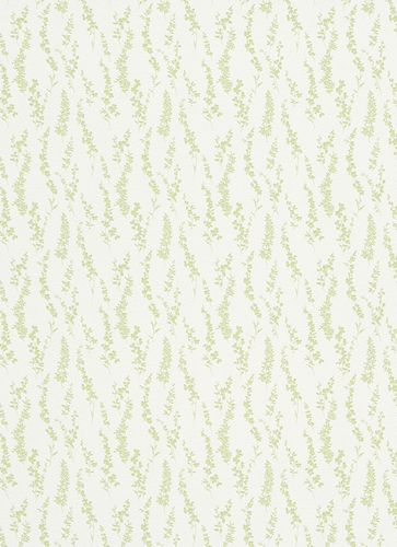 Wallpaper leaves green white green gloss Erismann 6483-07