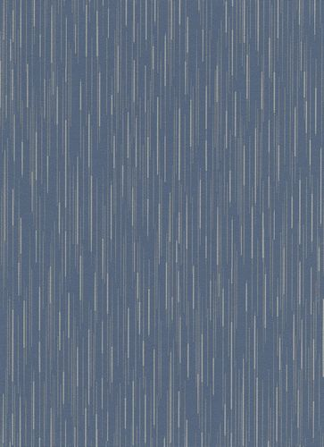 Wallpaper lines dark blue taupe glitter Erismann 6484-08