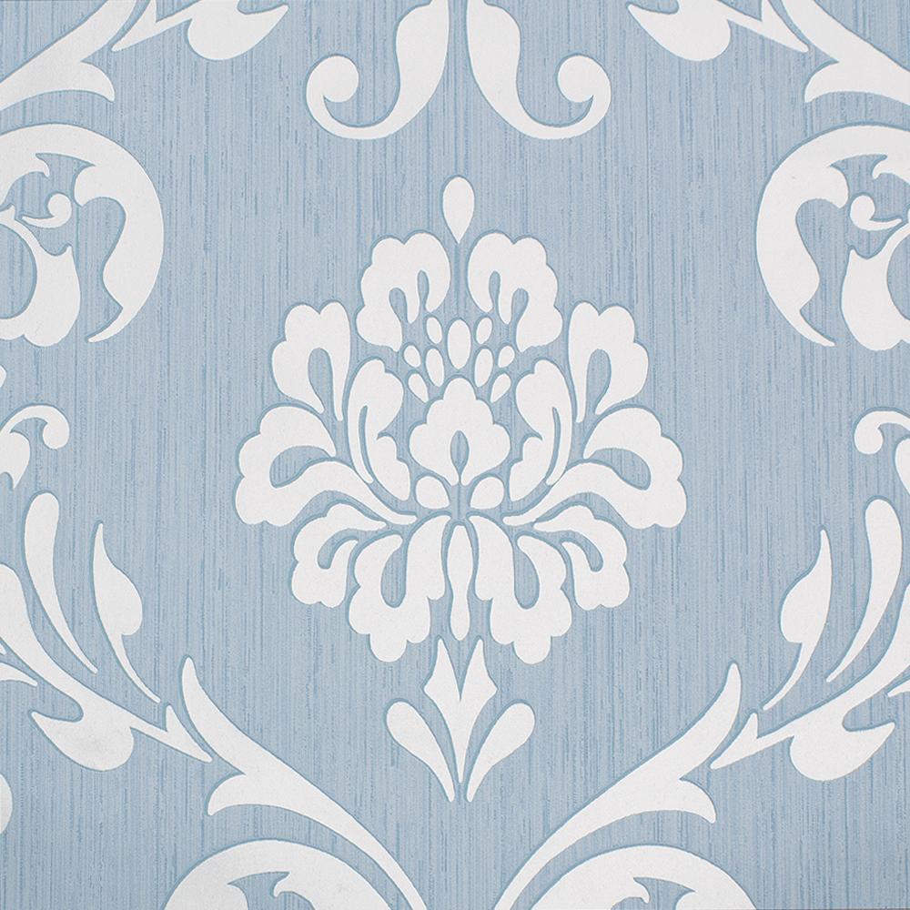 vliestapete barock tapete ornament blau glanz 13110 80
