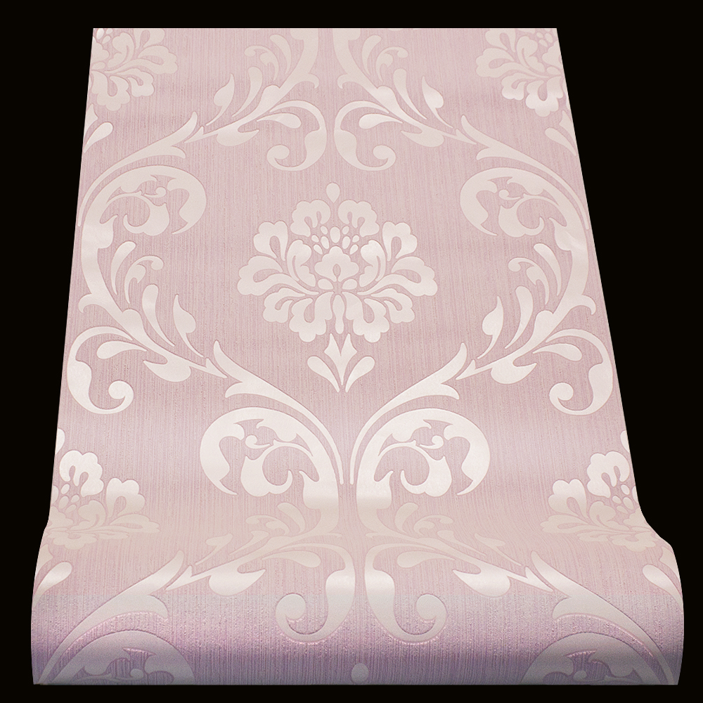 Vliestapete barock tapete ornament rosa glanz 13110 90 for Rosa tapete