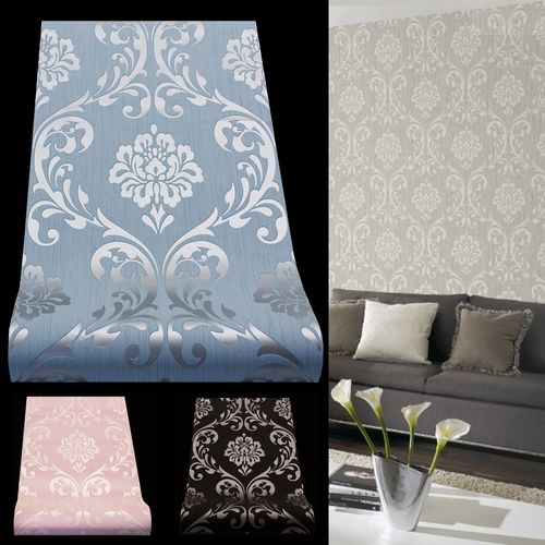 Wallpaper baroque ornament classic gloss effect 3 Colours online kaufen