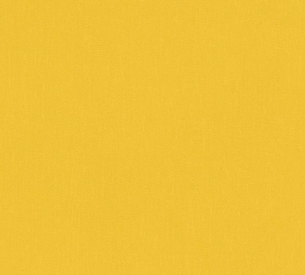 Wallpaper Plain Textured Yellow As Creation 3462 61