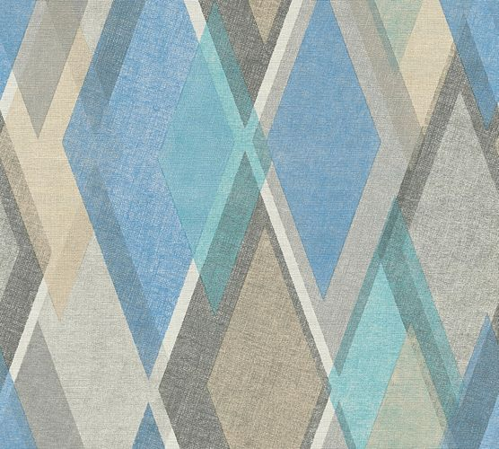 Wallpaper graphic retro grey blue AS Creation 35591-2 online kaufen