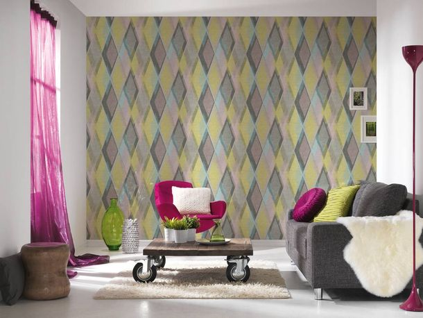 Wallpaper graphic retro colourful AS Creation 35591-3 online kaufen