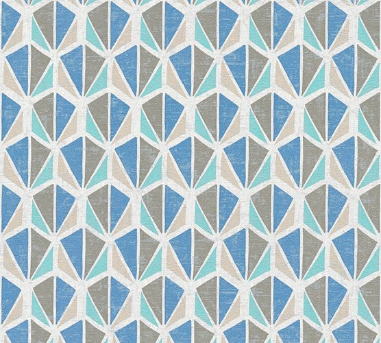 Wallpaper ethno used grey white blue AS Creation 35598-5 online kaufen