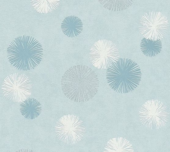 Wallpaper dandelion blue cream glitter livingwalls 35607-3