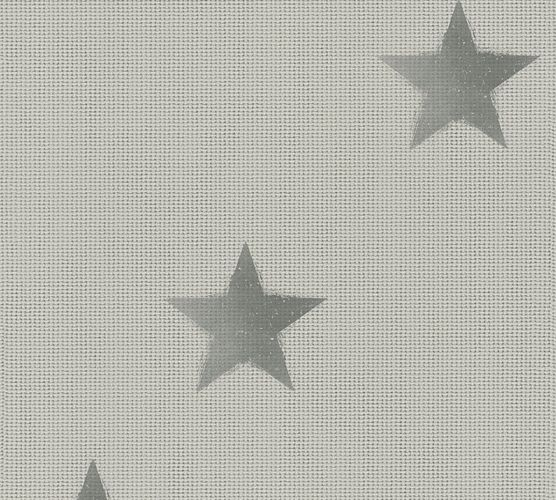 Wallpaper linen stars light grey livingwalls 35183-2