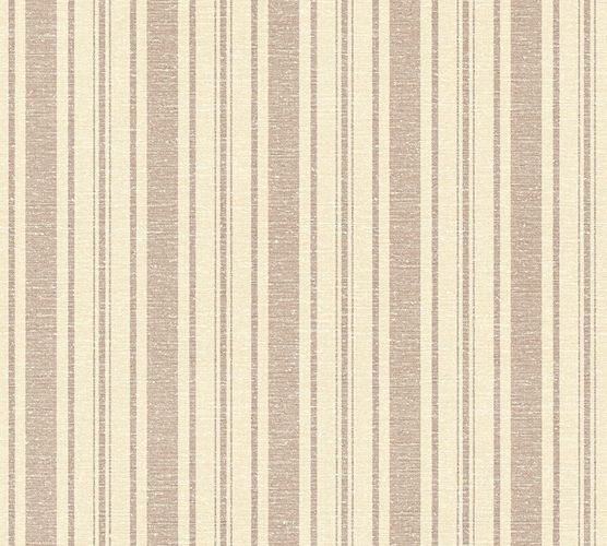 Wallpaper stripes cream brown livingwalls 35185-3