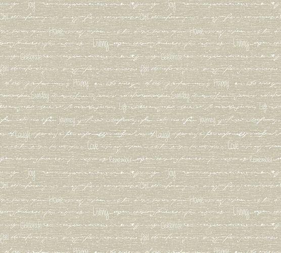 Vliestapete Schriftzug Home taupe weiß livingwalls 35187-4 online kaufen