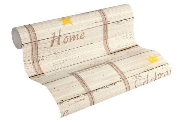Wallpaper wood lettering beige brown livingwalls 35341-2 online kaufen