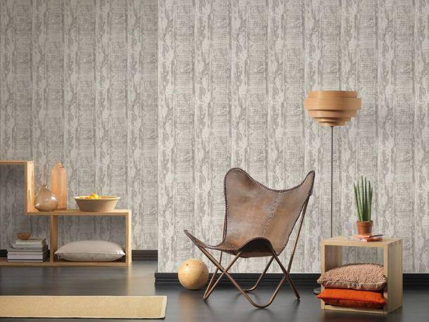 Wallpaper vintage driftwood grey cream livingwalls 35413-4 online kaufen