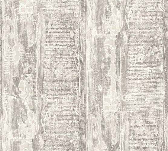 Wallpaper vintage driftwood grey cream livingwalls 35413-4