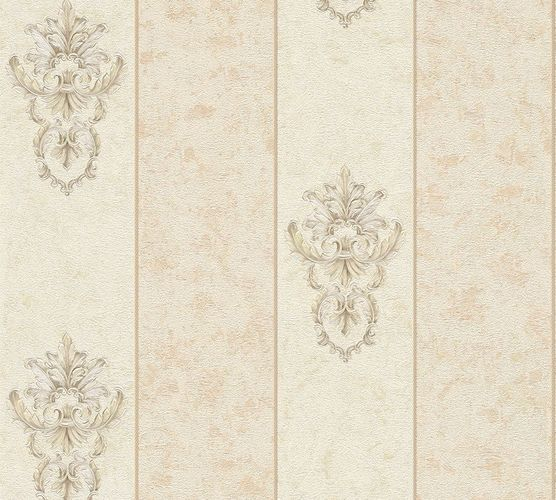 Non-woven wallpaper baroque stripes cream beige AP 34371-3 online kaufen