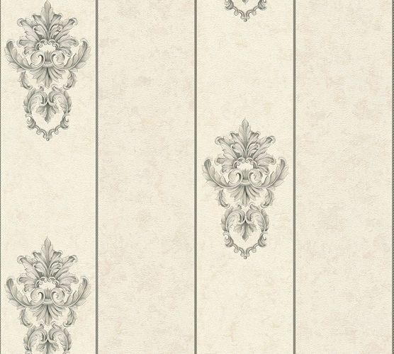 Non-woven wallpaper baroque stripes white grey AP 34371-4 online kaufen