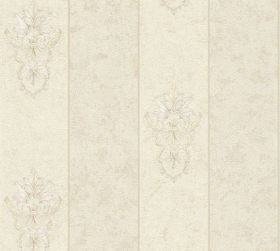 Non-woven wallpaper baroque stripes cream AP 34371-6 online kaufen