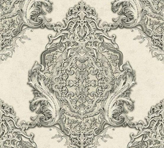Non-woven wallpaper baroque classic white grey AP 34372-4 online kaufen