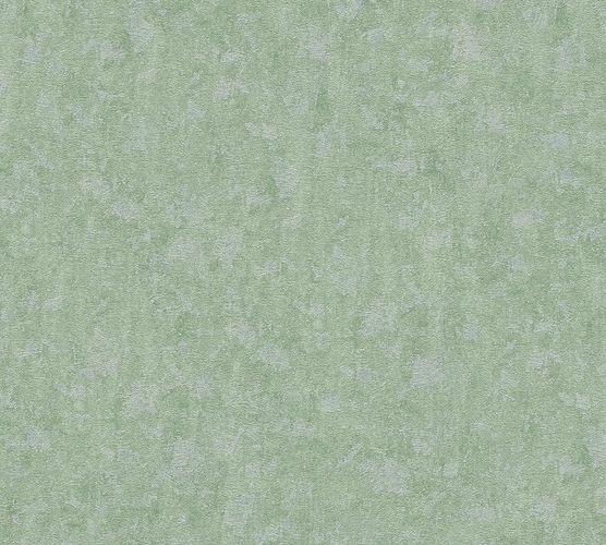 Non-woven wallpaper plaster style green AP 34373-5