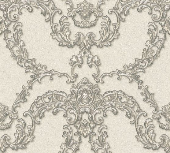 Non-woven wallpaper ornament tendrils cream silver AP 34777-4 online kaufen
