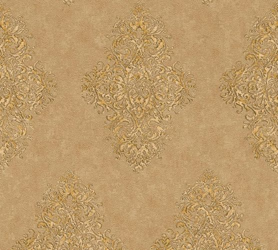 Non-woven wallpaper ornaments classic brown gold AP 35110-4 online kaufen